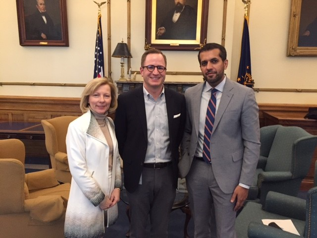 Leaders from the Indiana Oncology Society met with Governor Eric Holcomb's office
