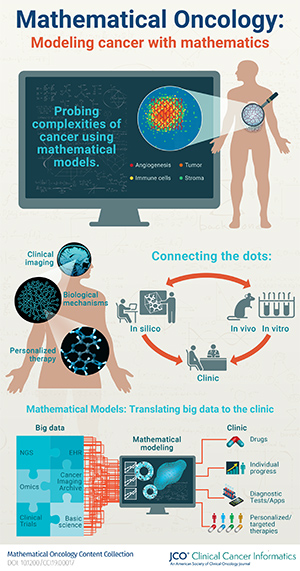 infographic explanation of mathematical oncology