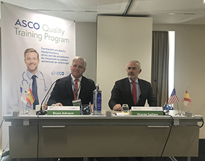 ASCO Past President Dr. Bruce Johnson at the Quality Training Program kickoff in Spain
