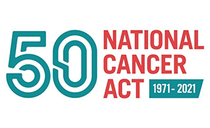 Logo for National Cancer Act's 50th anniversary