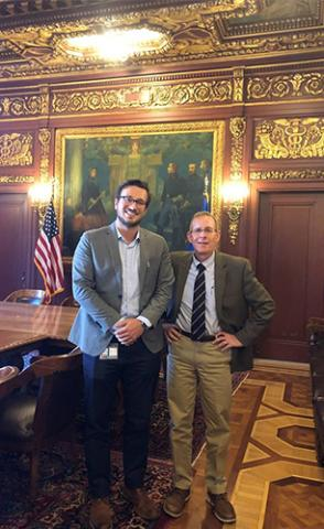 Photo of Dr. Kurt Oettel with a member of Wisconsin Governor Tony Evers' health staff