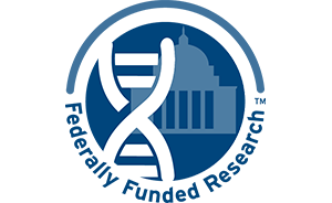 Badge indicating that research was paid for using federal funds
