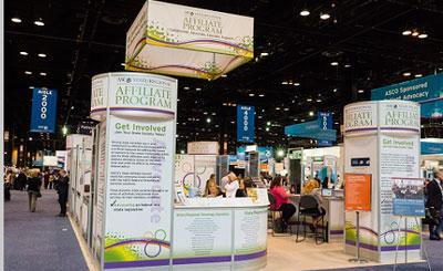 The State Oncology Societies booth at ASCO's 2016 Annual Meeting