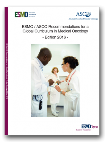 Cover of ESMO/ASCO Global Curriculum 2016 Edition